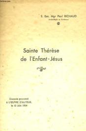 Sainte Therese De L'Enfant-Jesus - Couverture - Format classique