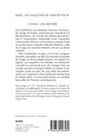 Congo ; une histoire - 4ème de couverture - Format classique