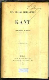 Kant. - Couverture - Format classique