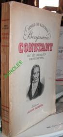 Benjamin Constant ou Le Libertin sentimental. - Couverture - Format classique