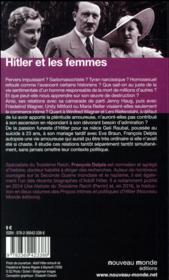 Hitler et les femmes - 4ème de couverture - Format classique