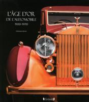 L'âge d'or de l'automobile - Couverture - Format classique