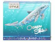 Dauphin style ; ocean shine ; carnet créatif - Couverture - Format classique