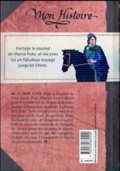 Marco Polo, la grande aventure ; journal sur la route de la soie 1269-1275 - 4ème de couverture - Format classique
