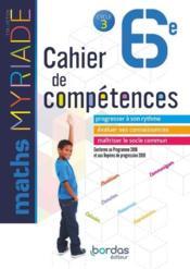 MYRIADE ; mathématiques ; 6e ; cahier d'activités (édition 2018) - Couverture - Format classique