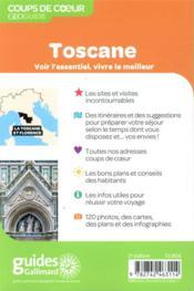 GEOguide coups de coeur ; Toscane et Florence (édition 2021) - 4ème de couverture - Format classique