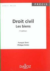 Dt Civil. Les Biens 5e Precis - Intérieur - Format classique