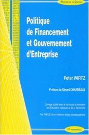 Politique De Financement Et Gouvernement D'Entreprise - Couverture - Format classique