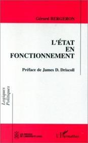 L'état en fonctionnement - Couverture - Format classique