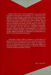Dictionnaire De La Vie Politique Et Du Droit Constitutionnel Americains - 4ème de couverture - Format classique