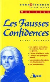 Fausses Confidences- Marivaux - Couverture - Format classique