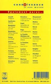 Fausses Confidences- Marivaux - 4ème de couverture - Format classique