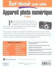 Tout Reussir Avec Votre Appareil Photo Numerique - 4ème de couverture - Format classique