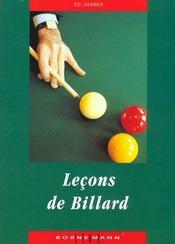 Lecons De Billard - Intérieur - Format classique