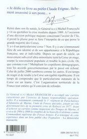 Corse ; la voix de la majorité silencieuse - 4ème de couverture - Format classique