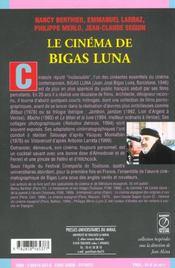 Le cinema de bigas luna - 4ème de couverture - Format classique