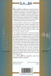Mégalithes - 4ème de couverture - Format classique
