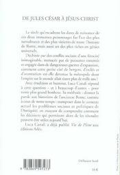 De Jules Cesar A Jesus-Christ - 4ème de couverture - Format classique