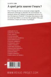 Revue Projet Assas N.328 ; Juin 2012 - 4ème de couverture - Format classique