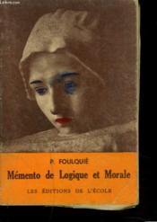 Memento De Logique Et De Morale - Couverture - Format classique