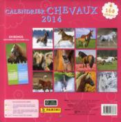 Calendrier chevaux 2014 - 4ème de couverture - Format classique