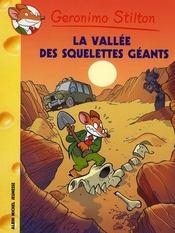 Géronimo Stilton T.38 ; la vallée des squelettes géants - Intérieur - Format classique