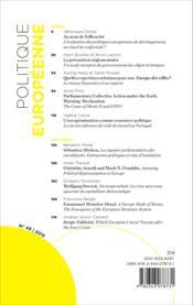 Revue Politique Europeenne T.49 ; Varia - Couverture - Format classique