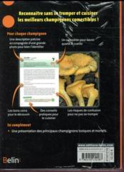 Guide des 60 meilleurs champignons comestibles - 4ème de couverture - Format classique