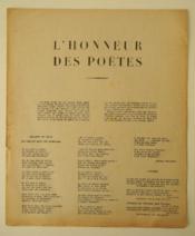 L'HONNEUR DES POETES. Edition originale en tract. - Couverture - Format classique