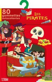 Les pirates ; 80 gommettes autocollantes - Couverture - Format classique