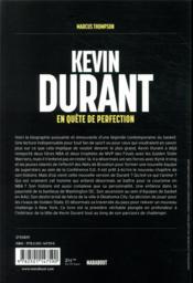 Kevin Durant ; en quête de perfection - 4ème de couverture - Format classique