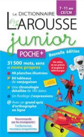 Le dictionnaire Larousse junior poche + - Couverture - Format classique