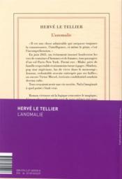 L'anomalie - 4ème de couverture - Format classique