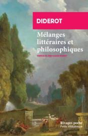 Mélanges littéraires et philosophiques - Couverture - Format classique