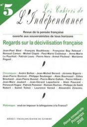 Cahiers de l'indépendance t.5 - Couverture - Format classique