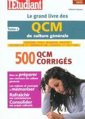 Le Grand Livre Des Qcm De Culture Generale ; Edition 2002 - Intérieur - Format classique