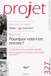 Revue Projet Assas N.327 ; Avril 2012 - Couverture - Format classique