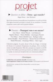 Revue Projet Assas N.327 ; Avril 2012 - 4ème de couverture - Format classique