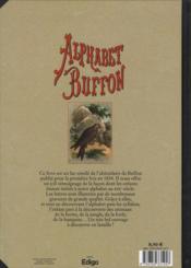 Alphabet Buffon ; la réédition de l'abécédaire de Buffon de 1834 - 4ème de couverture - Format classique