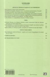 Revue Xviie Siecle N.259 - 4ème de couverture - Format classique