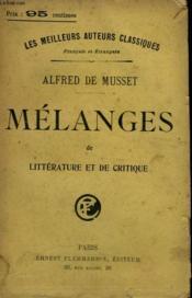 Melanges De Litterature Et De Critique. - Couverture - Format classique
