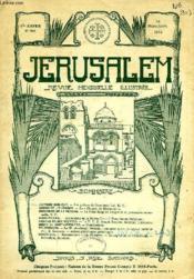 JERUSALEM, 27e ANNEE, N° 166, MARS-AVRIL 1932, REVUE MENSUELLE ILLUSTREE - Couverture - Format classique