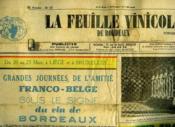 La Feuille Vinicole De Bordeaux - Avril 1958 - Couverture - Format classique