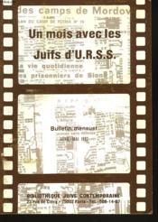 Un Mois Avec Les Juifs D'U.R.S.S., Bulletin Mensuel Avril-Mai 1983. - Couverture - Format classique