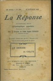 La Reponse. Revue Mensuelle D'Apologetique Populaire. N°190, 15 Octobre 1923. Le Denier Du Culte. / La Natalite. - Couverture - Format classique
