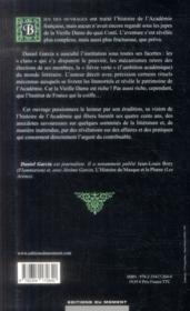 Coupole et dépendances ; enquête sur l'Académie française - 4ème de couverture - Format classique