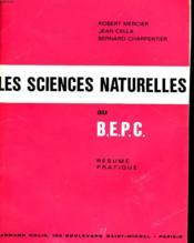 Les Sciences Naturelles Au B.E.P.C. - Couverture - Format classique