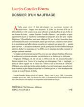 Dossier d'un naufrage - Couverture - Format classique