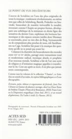 Scriabine - 4ème de couverture - Format classique