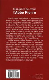 Mon père de coeur : l'abbé Pierre - 4ème de couverture - Format classique